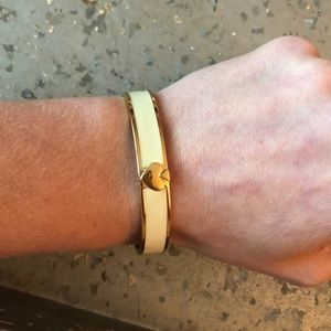 Kate Spade Cream & Gold Spade Clasp Bracelet
